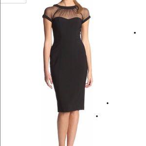 Maggy London back illusion dress size 6